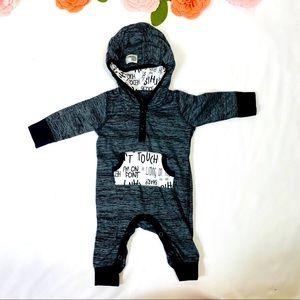 Black and white boy romper baby starter 3M
